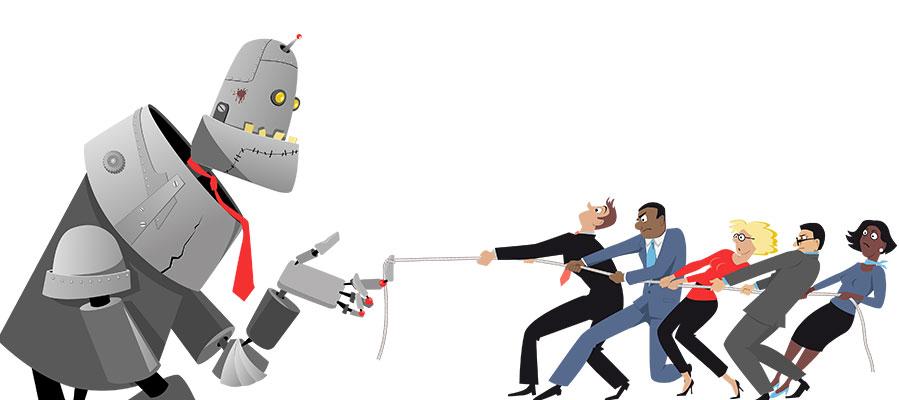 Robots taking over jobs