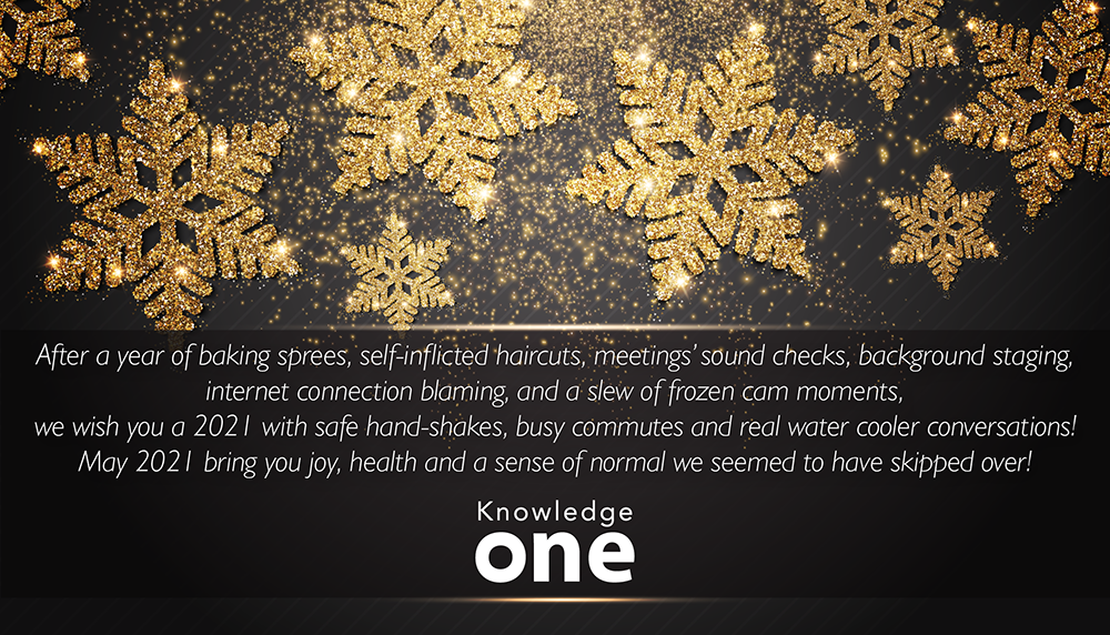 Happy Holidays from Knowledgeone card